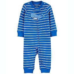 carter's® Whale Zip-Up Footless Sleep & Play in Blue