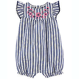 carter's® Floral Striped Romper in Navy