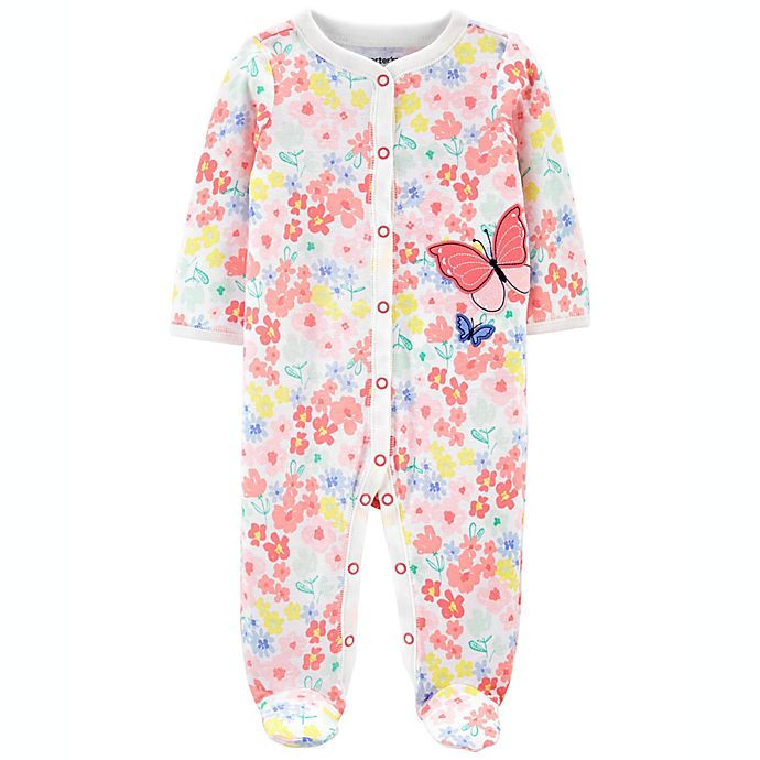 Alternate image 1 for carter's® Butterfly Snap-Up Sleep & Play Footie