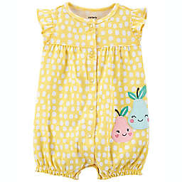 carter's® Dot Pear Snap-Up Romper in Yellow