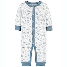 carter's® Animals Palm Tree Snap-Up Cotton Footless Sleep & Play in Ivory