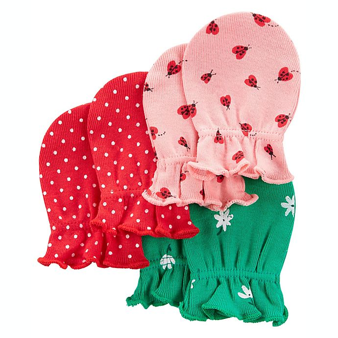 Alternate image 1 for carter's® 3-Pack Mittens in Pink