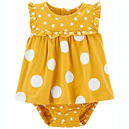 carter's® Polka Dot Sunsuit in Yellow