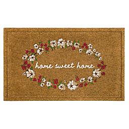 """Bee & Willow™ 18"""" x 30"""" Home Sweet Home Door Mat in Tan"""