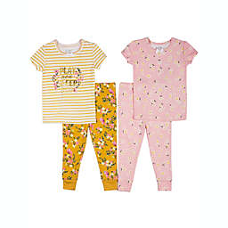 "Nicole Miller™ Size 24M 4-Piece ""Play Now Sleep Later"" Pajama Set"