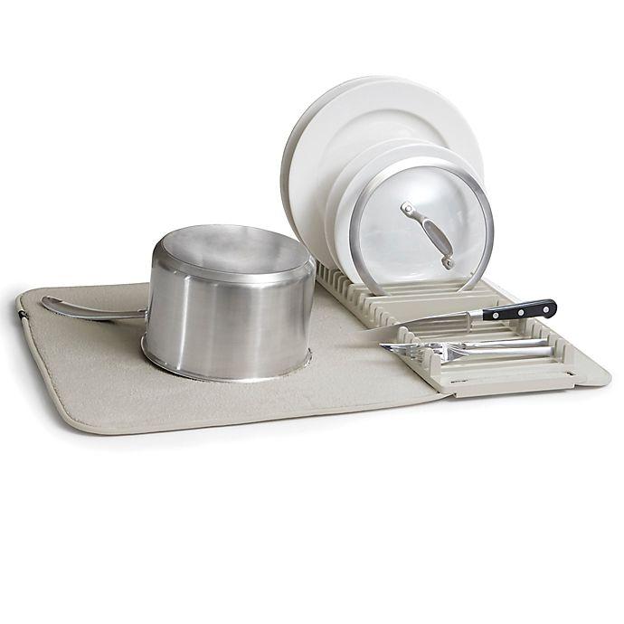 Alternate image 1 for Umbra® UDry Polyester 24-Inch Drying Rack/Mat in Light Grey
