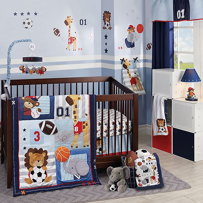 Alternate image 1 for Lambs & Ivy® Future All Star 4-Piece Crib Bedding Set