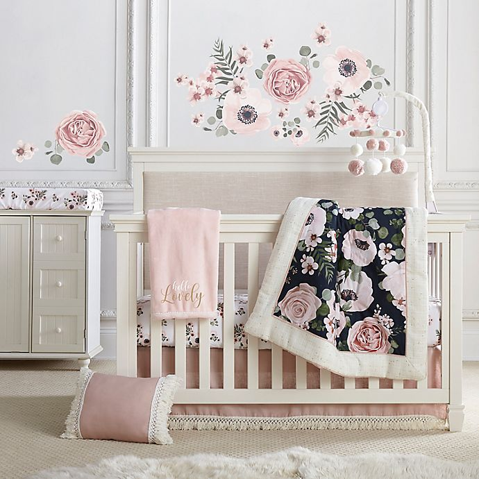 Alternate image 1 for Levtex Baby® Fiori Collection 4-Piece Crib Bedding Set