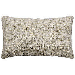 Bee & Willow™ Harvest Cozy Knit Rectangular Throw Pillow in Ivory