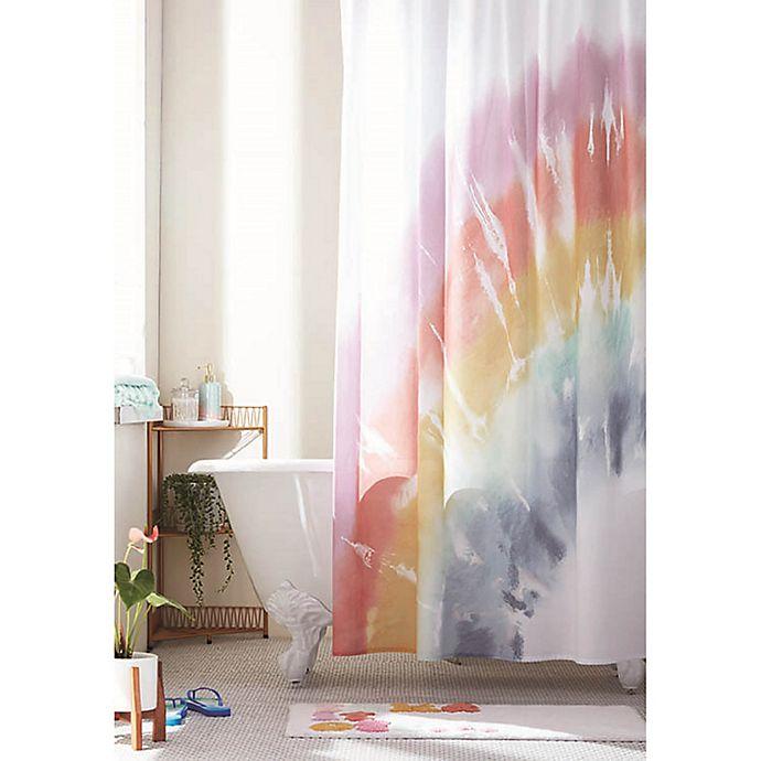 Alternate image 1 for Wild Sage™ Selena Rainbow Tie-Dye Shower Curtain