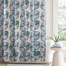 Simply Essential™ Vertical Leaves PEVA Shower Curtain