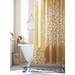 Wild Sage™ 72-Inch x 86-Inch Lucia Floral Medallion Shower Curtain in Ochre