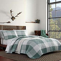 Eddie Bauer® Boulder Plaid Reversible Quilt Set in Evergreen