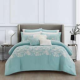 Beamont 12-Piece King Comforter Set in Aqua