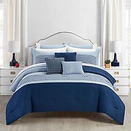 Radison 12-Piece Queen Comforter Set in Blue