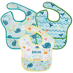 Bumkins® Rolling With The Waves 3-Pack SuperBibs in Blue