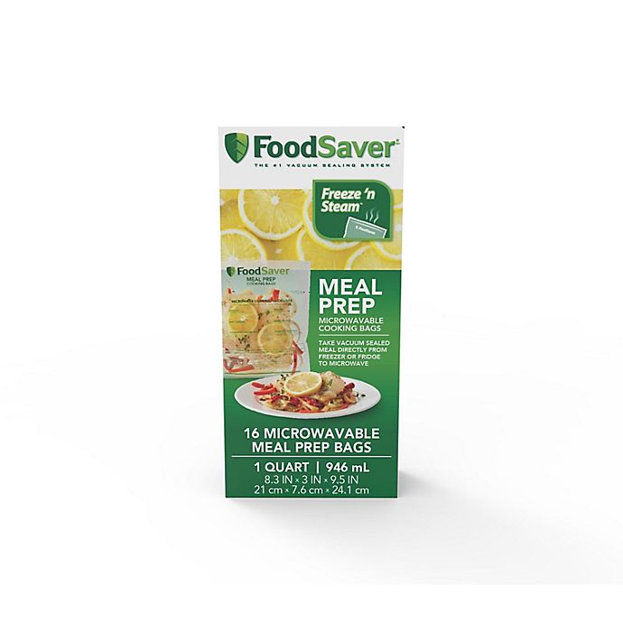 Alternate image 1 for FoodSaver® 1 qt. Microwavable Meal Prep Bags (16 Count)