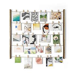 Umbra® 5-Row Hangit Photo Display in Rustic Natural