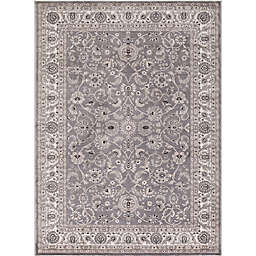 Concord Global Trading Kashan Bergama 7-Foot 10-Inch x 9-Foot 10-Inch Area Rug in Grey
