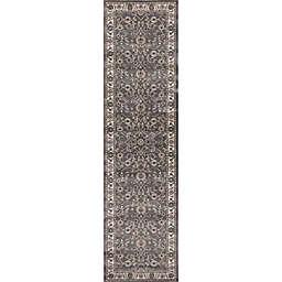 Concord Global Trading Kashan Bergama 2-Foot x 7-Foot 3-Inch Runner in Grey