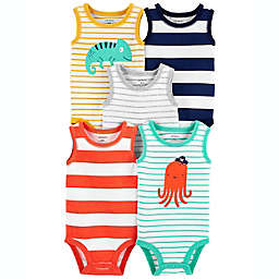carter's® 5-Pack Bright Stripe Animal Tank Bodysuits