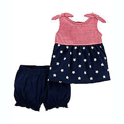 carter's® 2-Piece 4th of July Sleeveless Top and Short Outfit