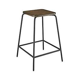 Studio 3B™ Wood and Metal Stacking Counter Stool in Brown/Black