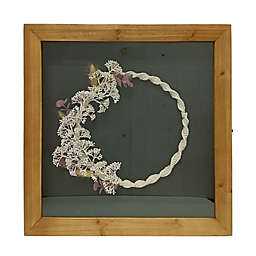 Bee & Willow™ 22-Inch x 22-Inch Faux Floral Shadowbox with Glass