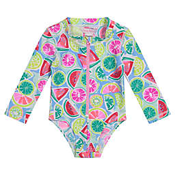 Tommy Bahama Printed One-Piece Rashguard Swimsuit
