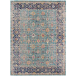 Amer Rugs Etracery Shey Rug in Turquoise