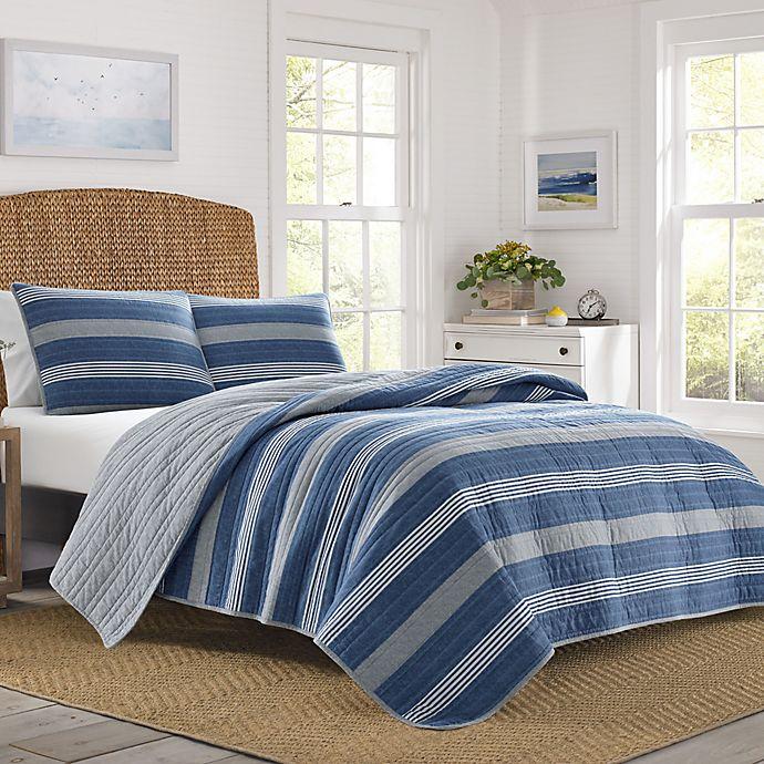 Alternate image 1 for Nautica® Saltmarsh Quilt Set in Dark Blue