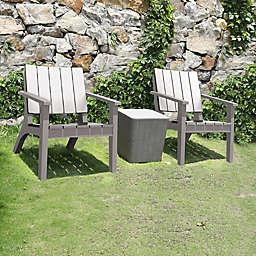 DUKAP® Enzo 3-Piece Patio Seating Set in Grey