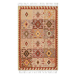 Momeni Nomad 5' X 8' Area Rug in Rust