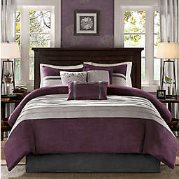 Madison Park® Palmer 7-Piece King Comforter Set in Plum