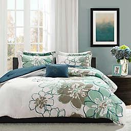 Mi Zone Allison Reversible 3-Piece Twin/Twin XL Comforter Set in Blue/Grey