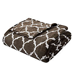 Madison Park Ogee Oversized Throw Blanket in Brown