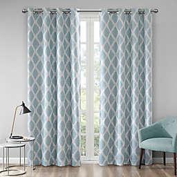 Blakesly Printed Ikat Grommet Top Room Darkening Window Curtain Panel (Single)