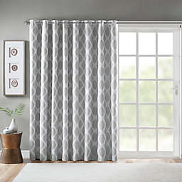 SunSmart Blakesly 84-Inch Grommet Blackout Printed Ikat Patio Curtain in Grey (Single)