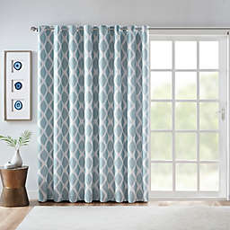 SunSmart Blakesly Grommet Blackout Printed Ikat Patio Curtain