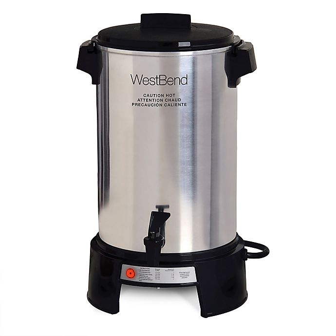 Alternate image 1 for West Bend Aluminum Commercial Coffee Urn in Silver