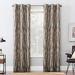 Sun Zero® Ursa Cascading Ikat Extreme Blackout 84-Inch Curtain Panel in Spice (Single)