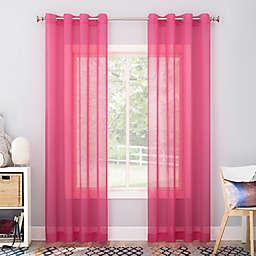 No. 918 Calypso Sheer Voile 63-Inch Grommet Window Curtain Panel in Pink