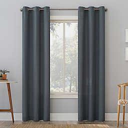 No. 918 Elgin Contrast Stitch Cotton Blend Semi-Sheer Grommet Curtain Panel (Single)