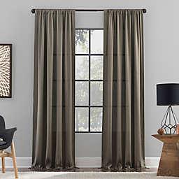 Clean Window Raw Texture Recycled Fiber Semi-Sheer Rod Pocket Curtain Panel (Single)
