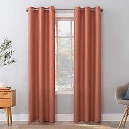 No. 918 Herschel Slub Texture Semi-Sheer Grommet Window Curtain Panel (Single)