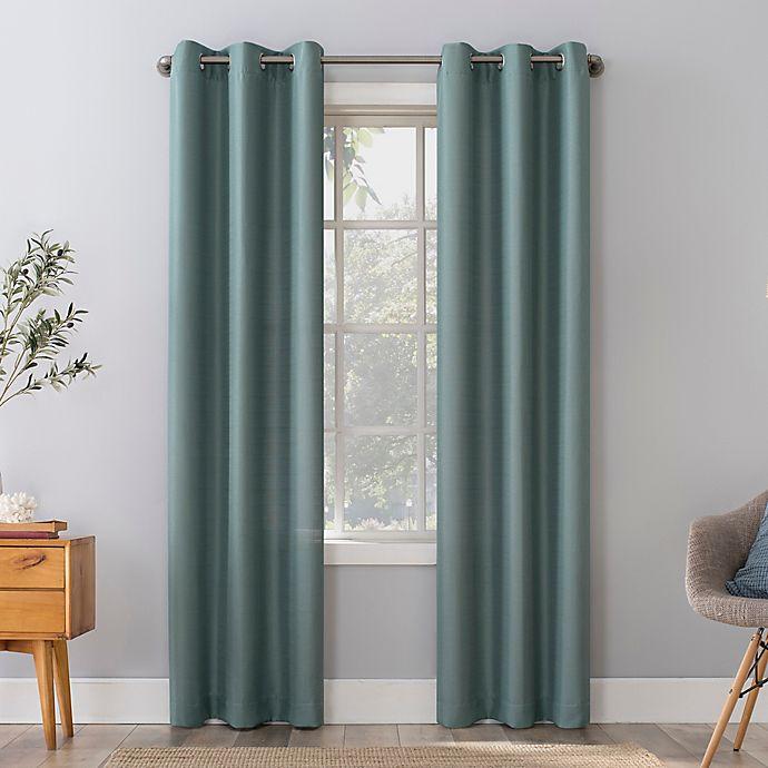 Alternate image 1 for No. 918 Herschel Slub Texture Semi-Sheer Grommet Window Curtain Panel (Single)