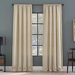 Clean Window Raised Dobby Recycled Fiber Semi-Sheer 96-Inch Curtain Panel in Ecru (Single)