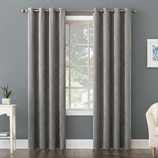 Alternate image 1 for No. 918 Level Plush Corduroy Room Darkening Grommet Window Curtain Panel (Single)