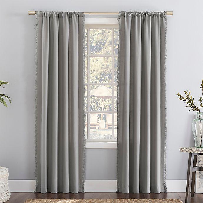 Alternate image 1 for No. 918 Ruthie Frayed Edge Semi-Sheer Rod Pocket Window Curtain Panel (Single)
