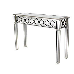 Ridge Road Décor Glam Wood Console Table in Silver